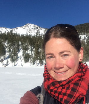 Sarah at Mosquito Lake December 2014